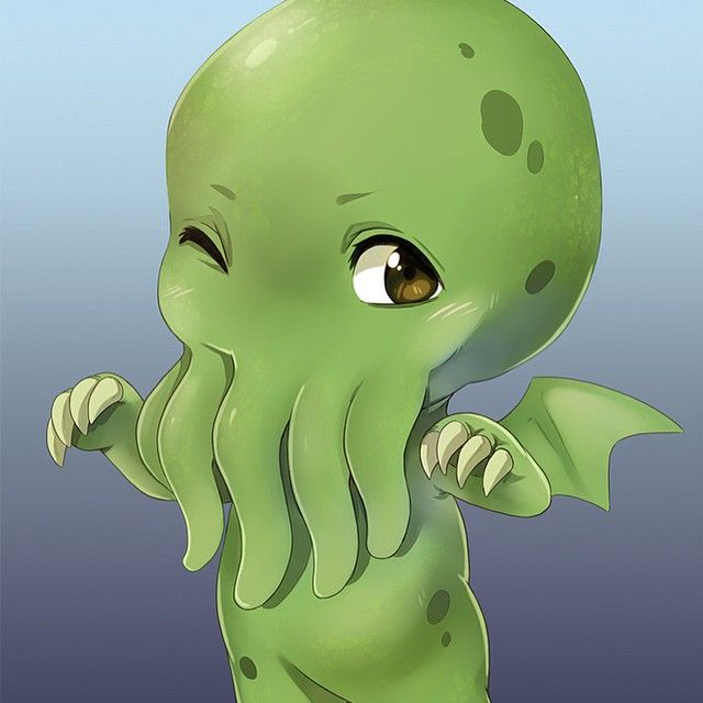 Cthulhu in Colour! #chibi #cardgame #tabletop #fairytale #kickstarter #cthulhu