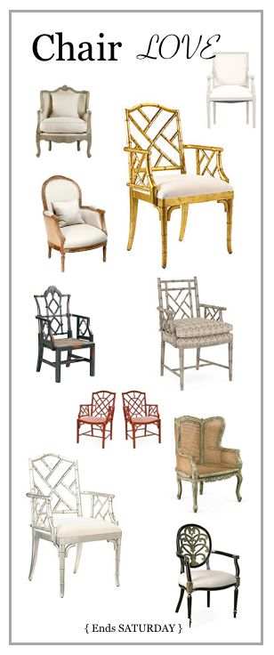 New today. Want the gold and silver Chinese  Chippendale chairs soooo much