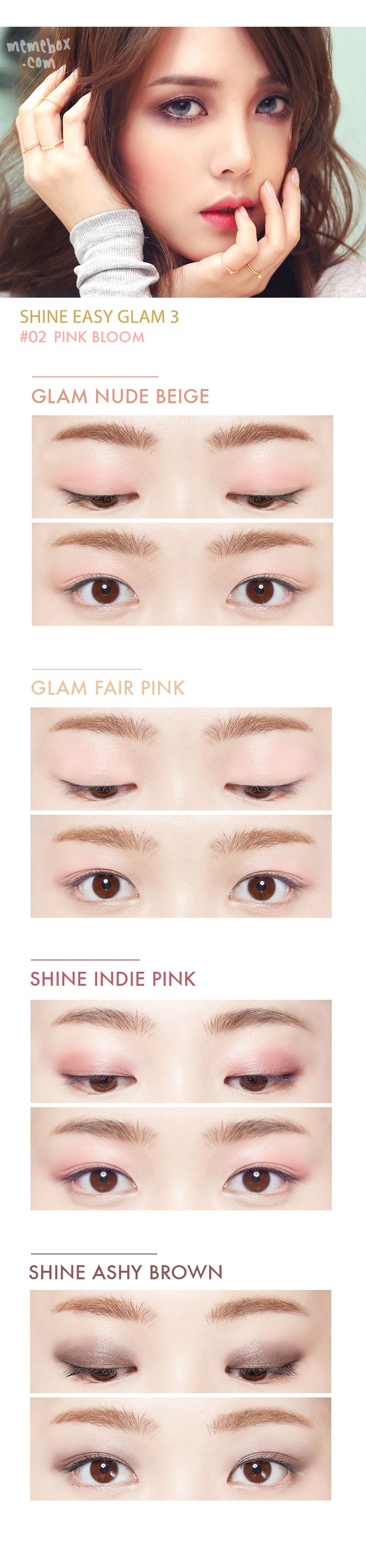 MEMEBOX Pony Shine Easy Glam Eyeshadow 3 #02 Pink Bloom - OPbeauty 美容化妝專門店