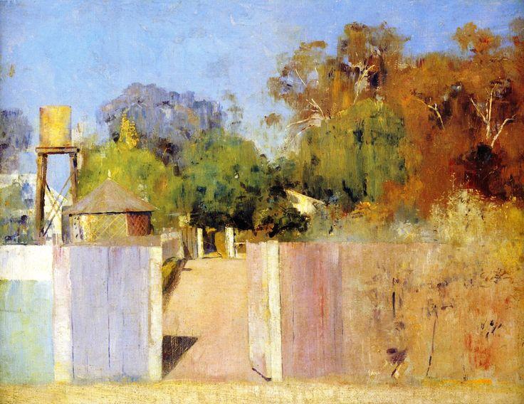 "transistoradio: "" Tom Roberts (Australian, 1856-1931), The Old Barracks at Collendina (1891), oil on canvas, 51.5 x 40 cm. Via The Athenaeum. """