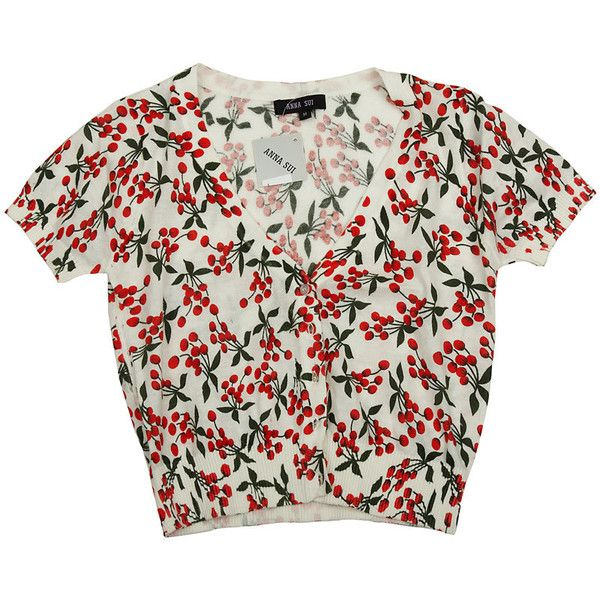 Êàðäèãàí ñ âèøåíêàìè ❤ liked on Polyvore featuring tops, blouses, shirts, t-shirts, anna sui blouse, shirts & tops, anna sui top, anna sui and shirts & blouses