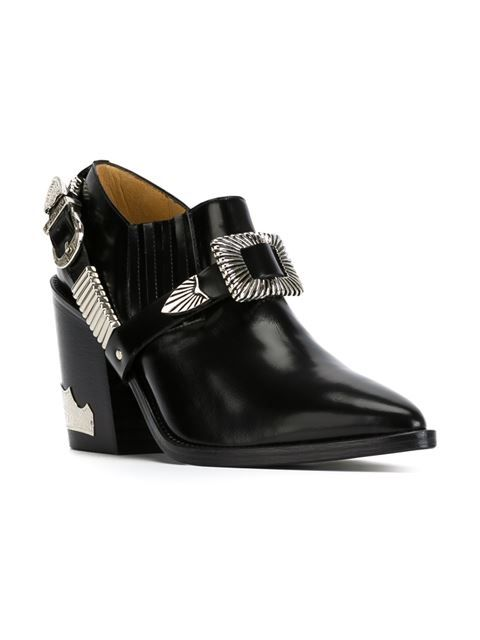 ∞ Toga buckled chunky heel booties