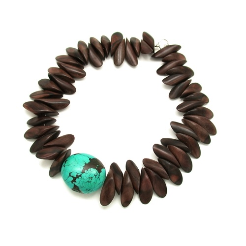 Tiger Ebony Petal With Turquoise - love the combo of the wood with the colour - perfection!