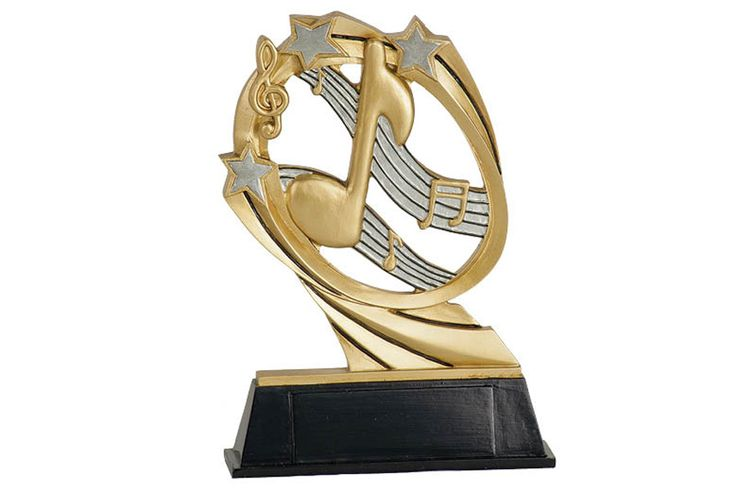 """GOLD NOTE/STARS MUSIC TROPHY -  7"""""""