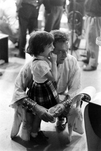 Famous Dads With Their Kids - LIFE  Richard Burton and his future stepdaughter, Liz Taylor and Mike Todd's daughter Liza, in 1962.