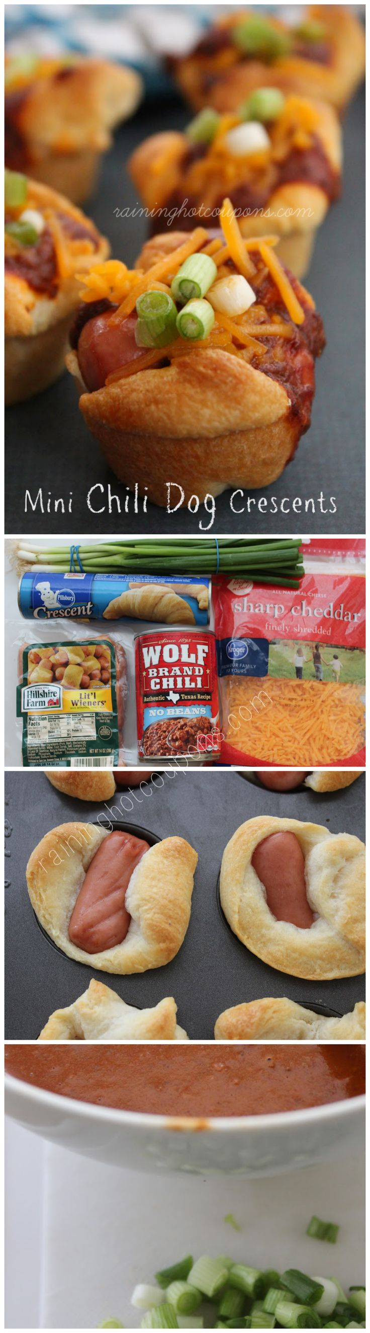 Mini Chili Dog Crescents - SO YUMMY!