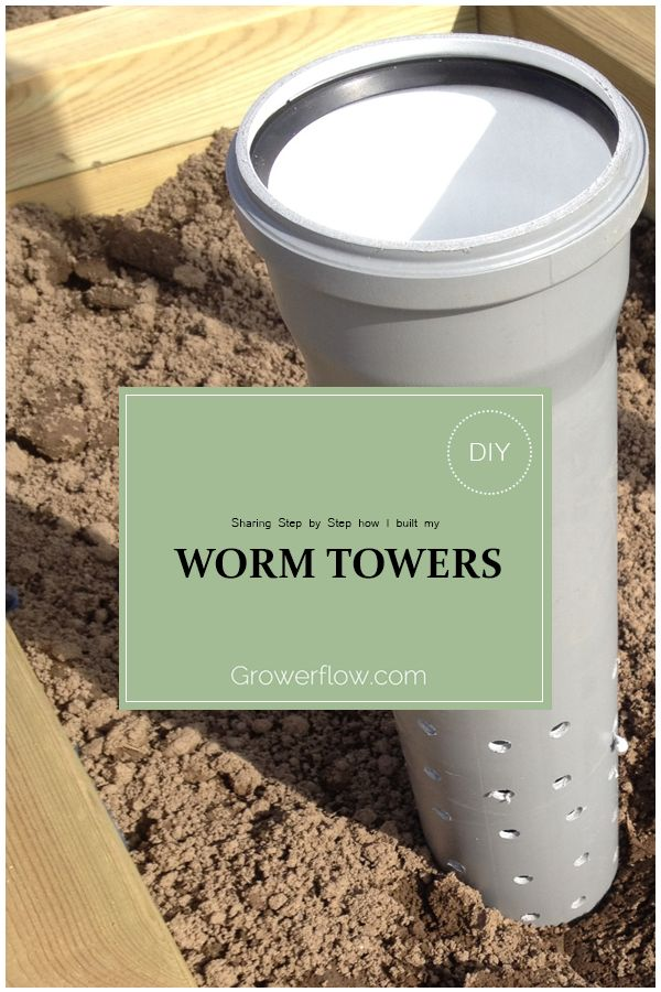Sharing Step by Step how I built my Worm Towers. DIY and share yours!