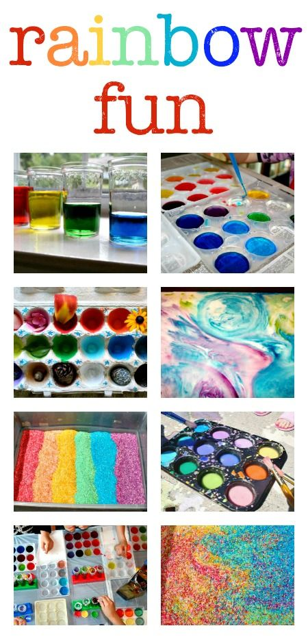 Rainbow activities for kids :: rainbow art, rainbow crafts, rainbow science experiments and sensory play