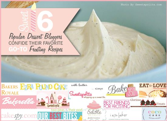 16 Favorite Frosting Recipes by Popular Dessert Bloggers -- via Best-Friends for Frosting