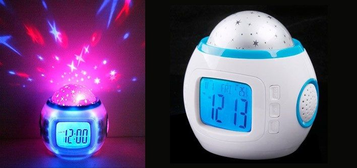 $22 for a Musical Star Sky Projection Clock - Taxes