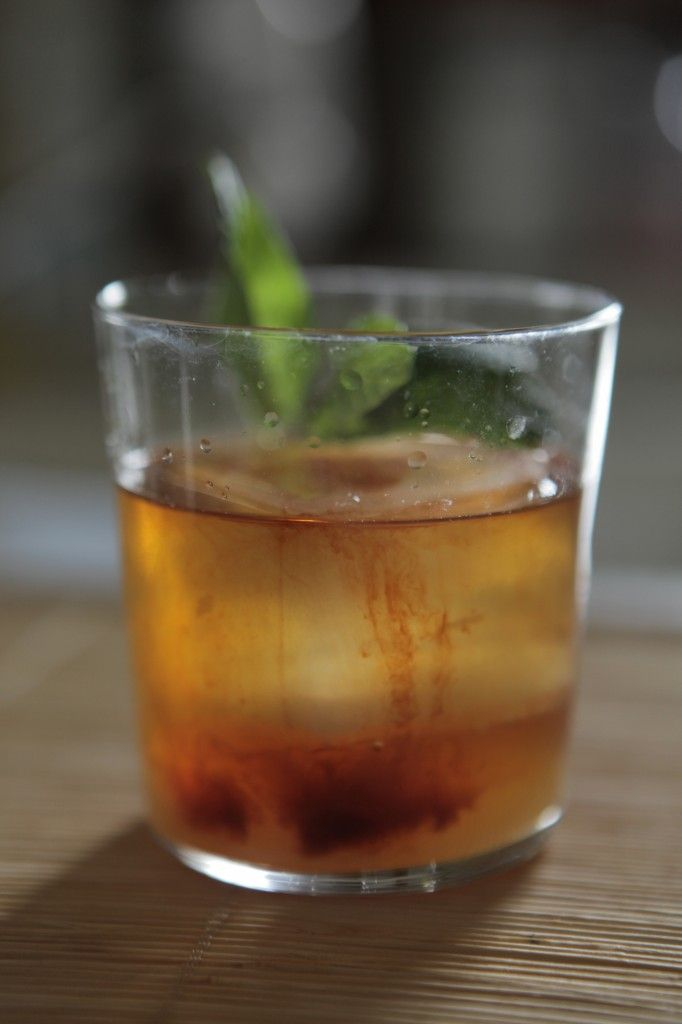 The Sinnerman: Buffalo Trace Bourbon, earl grey simple syrup, lemon juice, mint sprigs, Peychaud's bitters, absinthe rinse | Loving Cup