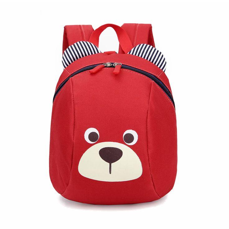 Niños anti-perdidos mochila infantil animal lindo perro de dibujos animados bolsa de la escuela jardín de infantes niño niños bebé bolsa mochila escolar