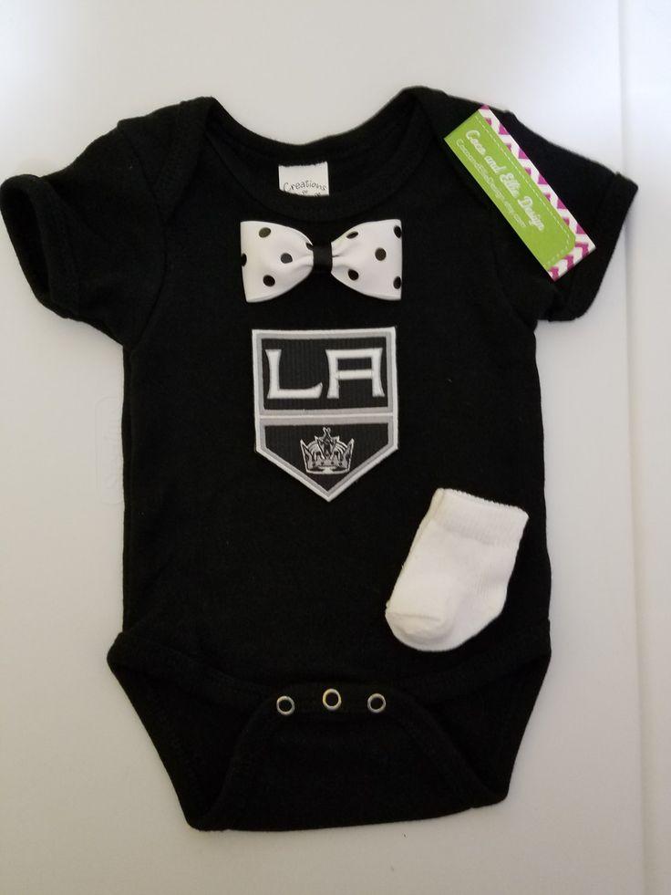 NHL La Kings onesie-la kings baby outfit-la kings hockey onesie-la kings for baby boy outfit-la kings boy shower gift-la kings hockey onesie by CocoandEllieDesign on Etsy