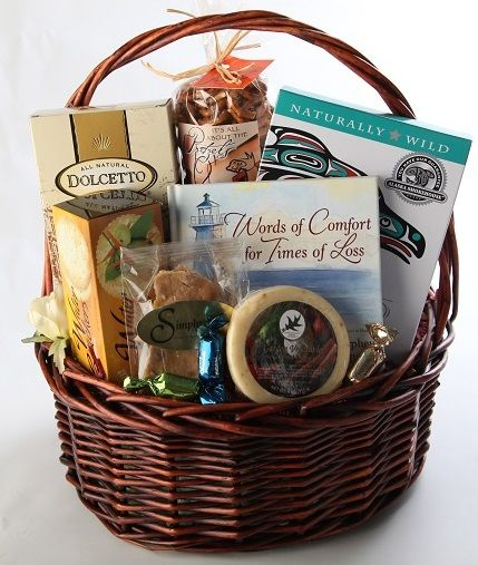 With Deepest Sympathy!  Simply Northwest can help you show how sorry you are for the loss of a loved one with this classy and comforting Gift Basket.
