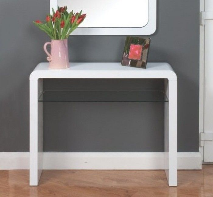 Atlantis Clarus High Gloss White Console Table | Console Tables | Furn-On