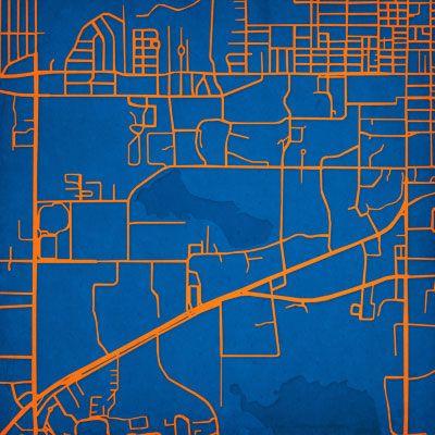 University of Florida | City Prints Map Art