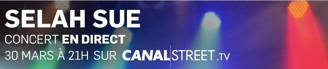Selah Sue en direct sur canalstreet.tv le 30 mars !