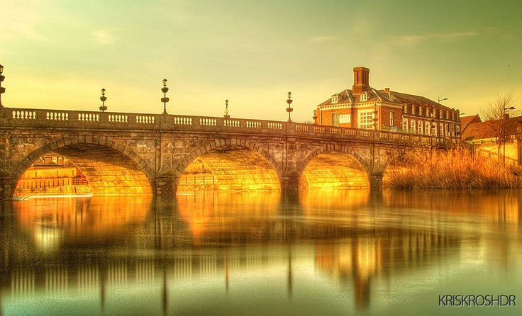 Welsh Bridge over River Severn