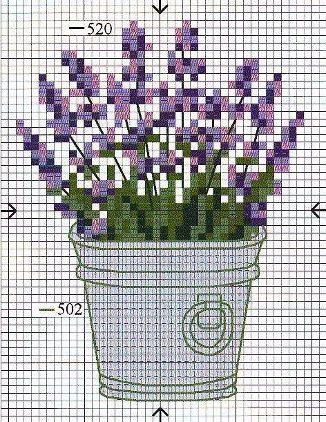 cross stitch lavender, pinterest - Pesquisa do Google
