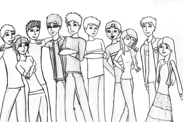 A group shot of the Upbeats and the Gamma Accidents. Left to right: Caleb, Bella, Ty, Ethan, Jack, Luke, Ned, Brooke, Smithy and Robyn.