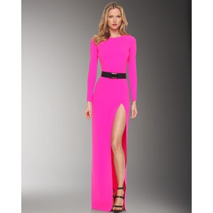 Michael Kors... LOVE THE COLOR!: Pink Michael, Favorite Design, Slash Gowns, Slit Maxis, High Slit, Ashtarism Style, Michael Kors, Kors High, Threadz