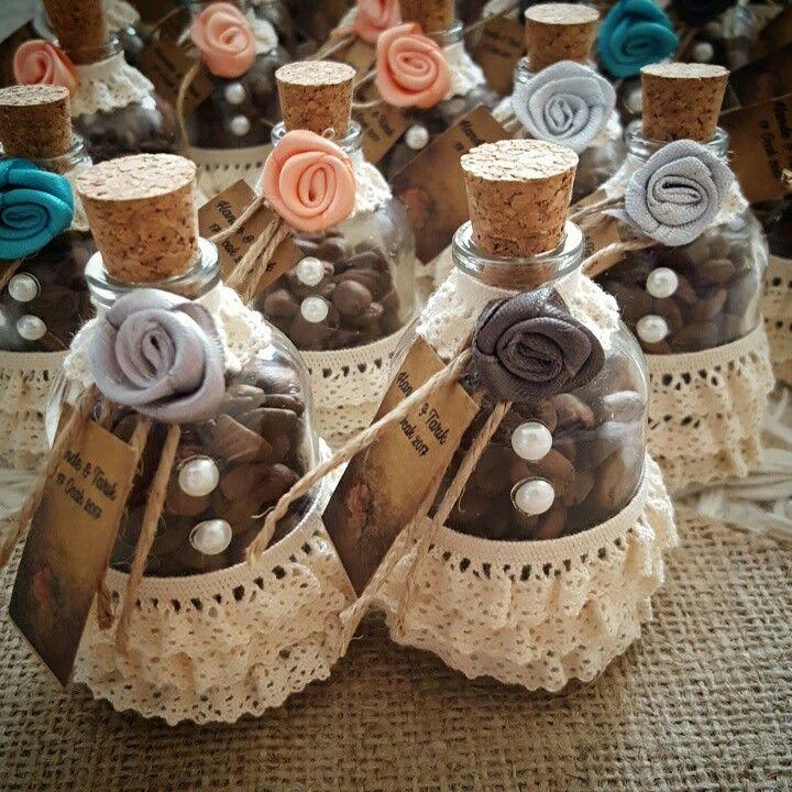 Kahve çekirdekli şişeler Vintage