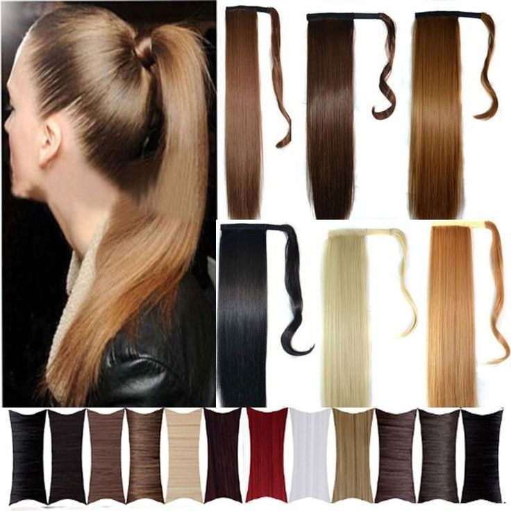 Sale Wrap Around Clip In Ponytail Hair Extensions Pony Tail Straight Curly Wm