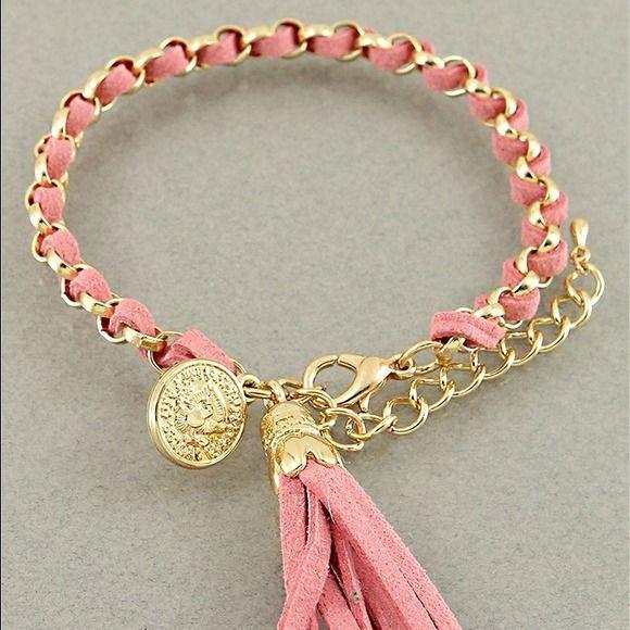Pink Tassel Bracelet $20.00 #pink #tassel #bracelet #jewelry