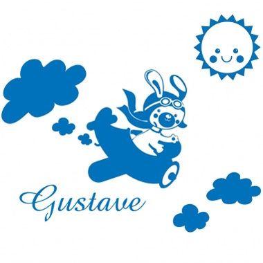 Cadeau malin: Stickers personnalisés avion et soleil