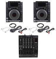 Pioneer Pair of CDJ-2000 Nexus (2) CD Players & 1 DJM-900 Nexus DJ Mixer CDJ2000