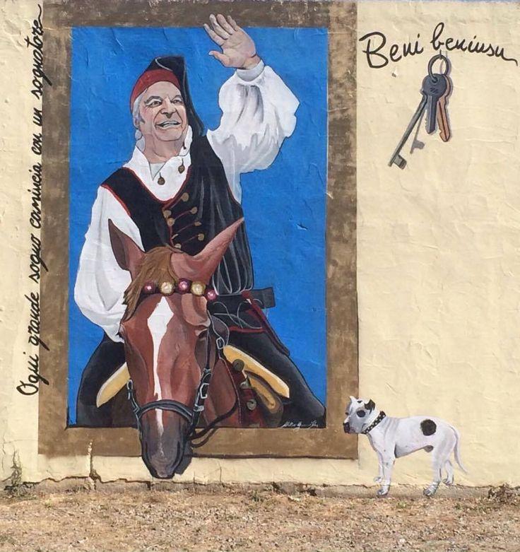 #MURALES...A #MATZACCARA muro privato del Maneggio S'Arcireddu località Matzaccara realizzato da Matteo Caria Art  scatto di Tatiana Mereu #muralesdisardegna #streetart