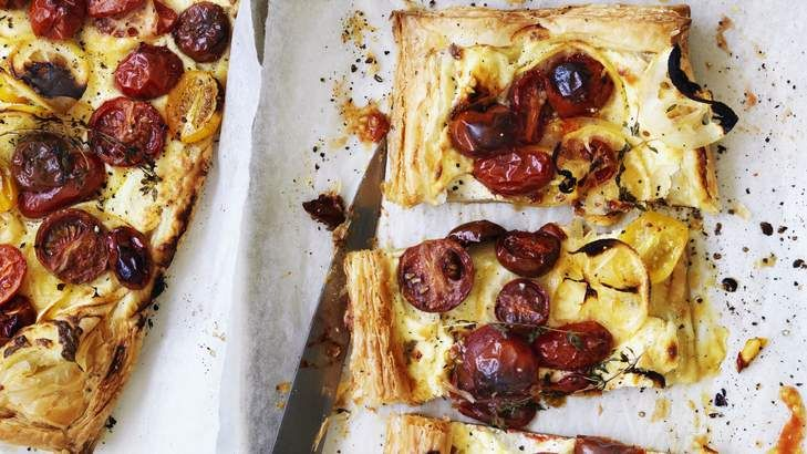 Pithy the fool? Keep the tang by retaining some pith with Adam Liaw's cherry tomato, ricotta and lemon tart.