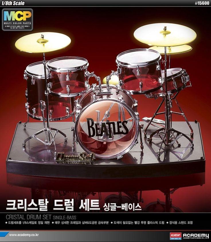 The Beatles Crystal Drum Set 1/8 Academy plastic model kit