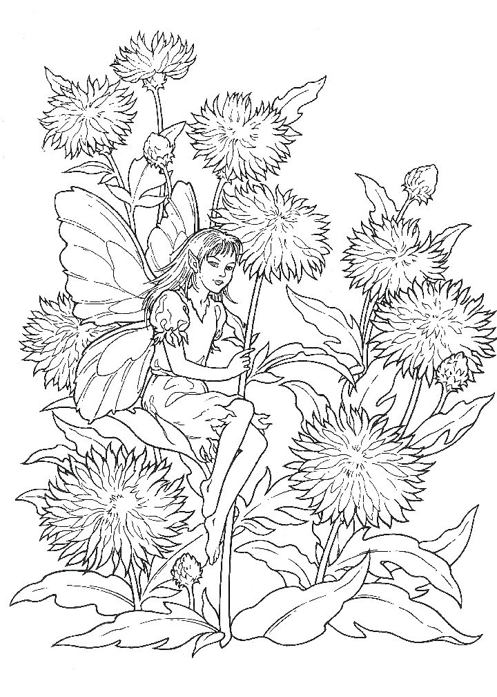 214 best Fairies - Coloring pages images on Pinterest