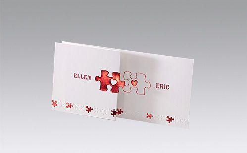 Originele trouwkaarten puzzelstukje