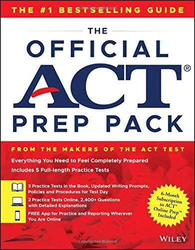The Official ACT Prep Pack with 5 Full Practice Tests (3 in Official ACT Prep Guide + 2 Online) - The Official ACT Prep Guide 2018 and ACT Online Prep have been combined to make the most comprehensive guide written by the makers of the ACT: The Official ACT Prep Pack. ACT Online Prep is an adaptive computer-based learning program, which means it will adjust to your learning curve and provide ...