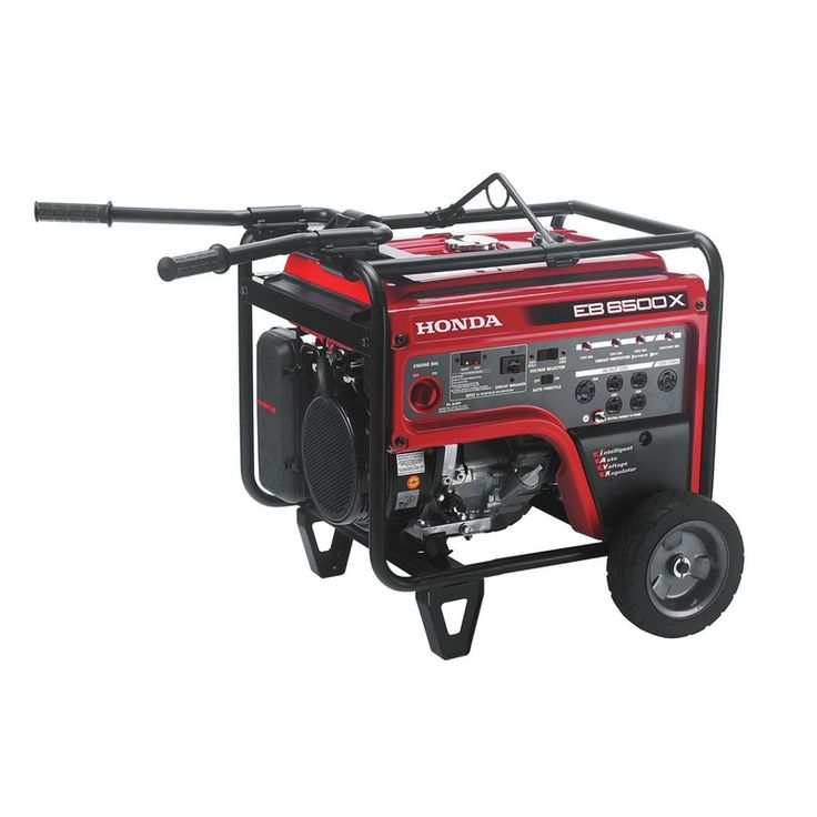 Honda EB6500 Industrial Generator | Mutton Power Equipment  The Honda EB6500 generator has a lot to offer for the industrial work site needing to run multiple tools or large items. The EB models offer hondas iGX commercial engine wrapped in a heavy duty frame to offer a long lasting solution for you power needs. The EB 6500 meets OSHA, NEC, and ETL regulations with GFCI accross all outlets. On the job site efficiency is everything, that's why the EB 6500 has auto throttle, voltage regulators…