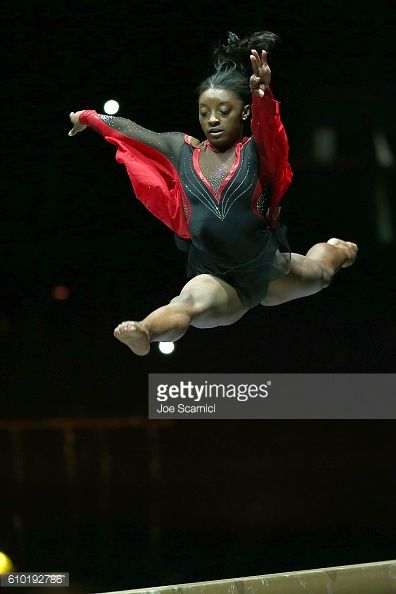 Olympian Simone Biles performs at the 2016 Kellogs Tour of Gymnastics Champions at Staples Center ...