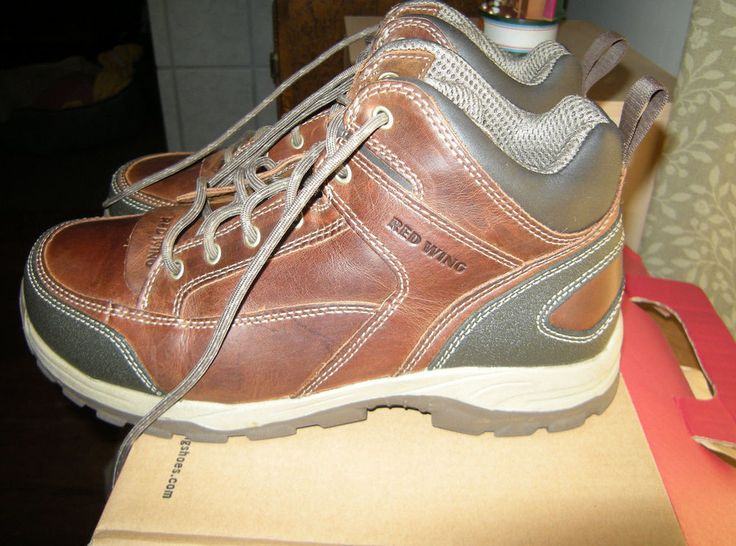 Red Wing Chukka, Brown Aluminum Toe Boots Style 6692 Size US 9.5, E2 #RedWing #WorkSafety