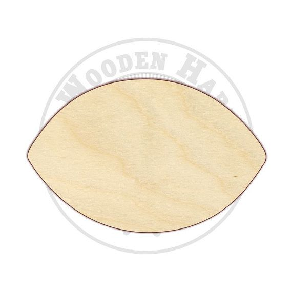 """Football Wood Cut Out - 14"""" - 16"""" - 170201 - Fall Football Sports Unfinished wood, Various sizes, Cutout Sign Wood Craft Shapes"""