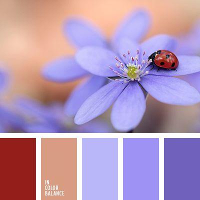 azul oscuro, beige, color blanco sucio, color lavanda, color lavanda claro, color marrón cálido, color violeta pálido, color violeta para una boda, color violeta suave, elección del color para un dormitorio, matices cálidos del marrón, matices de color lavanda, paleta de colores para una boda, paleta