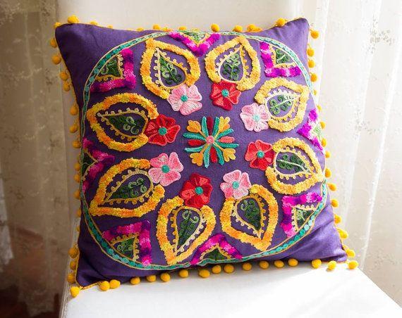 Purple Turkish Traditional Decorative Pillow by prettysurprise, $29.00
