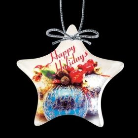 """Promotional Products Ideas That Work: VividPrint™ Ornament - Star 4"""". Get yours at www.luscangroup.com"""