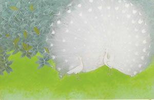 'White Peacock' silkscreen by Atsushi UEMURA
