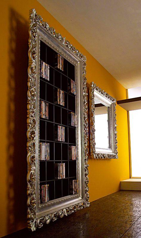 Porta dvd cornice barocco e specchiera barocca argento - Mobili porta dvd ...