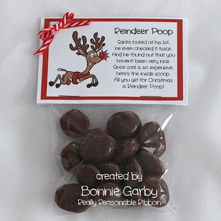 Reindeer Poop Stocking Stuffer or Party Favor - Free Printable