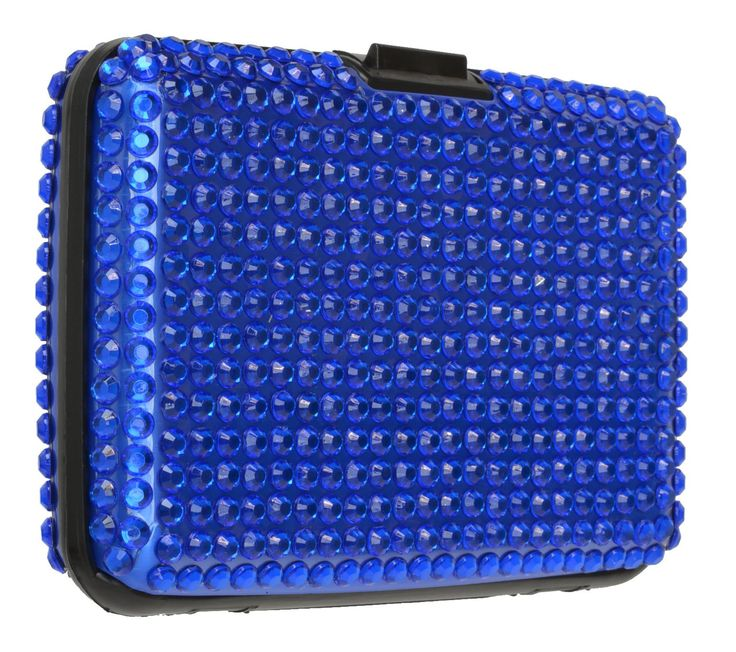 RFID Credit Card Holder for Women Stylish Designer Case Bling Colors By Marshal (Blue). Protection against RFID scanners. Bright diamond finish in choice of 4 colors. Sleek and lightweight. Easily fits in pocket or purse. Looks great - works great - easy to use.