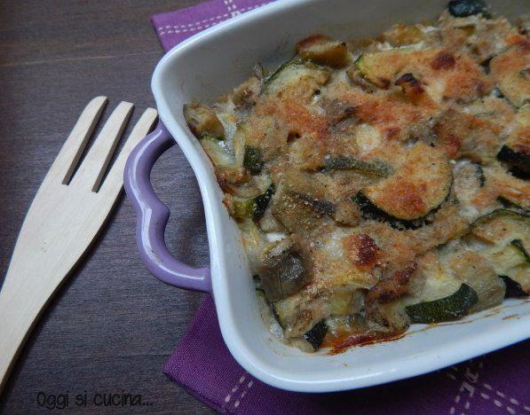 Pasticcio di zucchine e melanzane |Oggi si cucina
