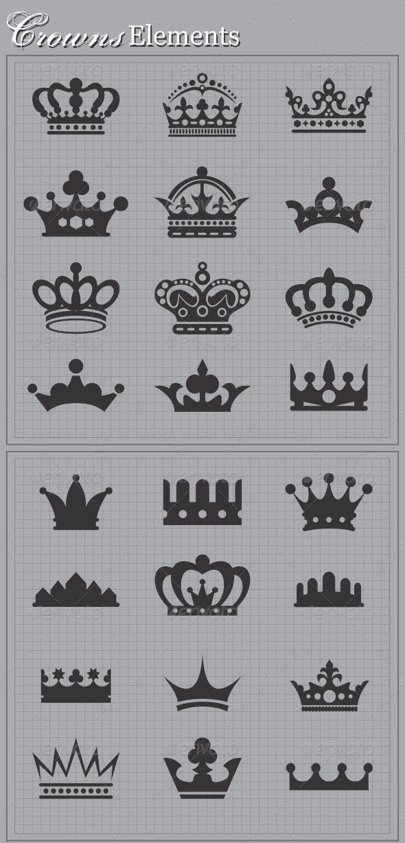 Crowns Elements #GraphicRiver