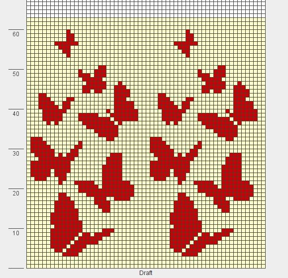 butterflies knit chart
